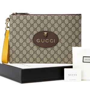 Auth Gucci GG GUCCISSIMA CLUTCH wallet bag supreme
